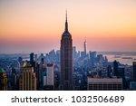 iconic manhattan skyline   new... | Shutterstock . vector #1032506689