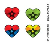 heart and star icon. icon set