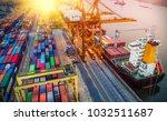 logistics and transportation of ... | Shutterstock . vector #1032511687