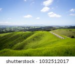 Beautiful Green New Zealand Landscape over a Farm Looking Out to Whangarei Heads and Ruakaka