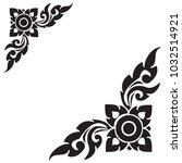 line thai black and white  the... | Shutterstock .eps vector #1032514921
