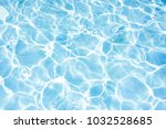 surface of blue swimming pool... | Shutterstock . vector #1032528685