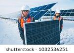solar power station worker | Shutterstock . vector #1032536251