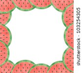 Melon lining to the frame isolated - stock photo