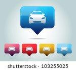 car icon button vector design... | Shutterstock .eps vector #103255025
