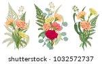 Set Of Bouquets Carnation  Fer...