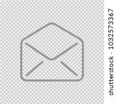 envelope open vector icon eps... | Shutterstock .eps vector #1032573367
