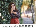 beautiful young arabic woman... | Shutterstock . vector #1032575224
