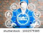 doctor using tablet computer... | Shutterstock . vector #1032579385