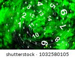 numerology in space | Shutterstock . vector #1032580105