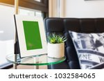 blank picture white frame on... | Shutterstock . vector #1032584065