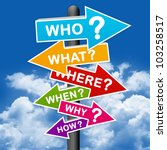 the question sign with blue sky ... | Shutterstock . vector #103258517