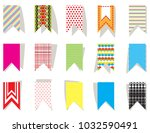 set of bright  colorful flags... | Shutterstock .eps vector #1032590491