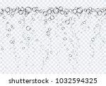 bubbles underwater texture... | Shutterstock .eps vector #1032594325