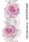 seamless pattern. decorative... | Shutterstock . vector #1032595684