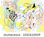brush  marker  pencil stroke... | Shutterstock .eps vector #1032610039