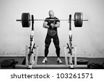 powerlifter with strong arms... | Shutterstock . vector #103261571