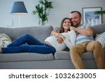 picture of happy married couple ... | Shutterstock . vector #1032623005