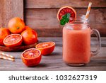 fresh smoothie drink with ... | Shutterstock . vector #1032627319