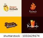 set of doner kebab logo... | Shutterstock .eps vector #1032629674