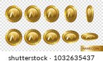 namecoin. set of realistic 3d... | Shutterstock . vector #1032635437