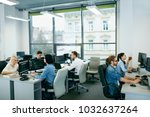 people working in modern office.... | Shutterstock . vector #1032637264