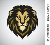 lion head mascot retro logo... | Shutterstock .eps vector #1032642994