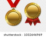 set of realistic 3d champion... | Shutterstock . vector #1032646969