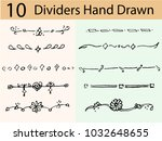 dividers vector set.  dividers... | Shutterstock .eps vector #1032648655