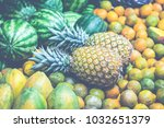 fruits and vegetables.farmer's... | Shutterstock . vector #1032651379