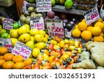fruits and vegetables.farmer's... | Shutterstock . vector #1032651391