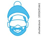 man with winter goggles face | Shutterstock .eps vector #1032651661