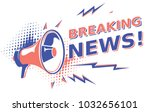 breaking news   sign with...   Shutterstock .eps vector #1032656101