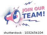 join our team   sign with... | Shutterstock .eps vector #1032656104