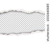 torn hole in white sheet of...   Shutterstock .eps vector #1032660685