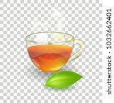 morning tea. design poster of... | Shutterstock .eps vector #1032662401