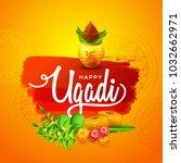 illustration of happy ugadi... | Shutterstock .eps vector #1032662971