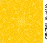 yellow color floral pattern.... | Shutterstock .eps vector #1032665527