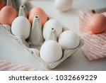 modern style easter eggs in a... | Shutterstock . vector #1032669229