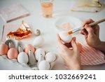 hands painting modern style... | Shutterstock . vector #1032669241