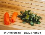 bench in the finnish sauna with ...   Shutterstock . vector #1032678595