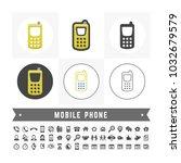 vector basic mobile phone icon. ... | Shutterstock .eps vector #1032679579