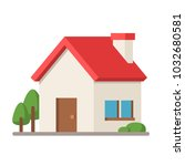 flat style house icon. | Shutterstock .eps vector #1032680581
