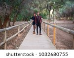young couple in love  man and... | Shutterstock . vector #1032680755
