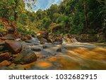 lata mengkuang waterfall... | Shutterstock . vector #1032682915