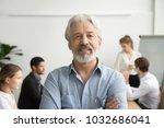 confident senior businessman... | Shutterstock . vector #1032686041