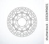 vector motorcycle brake disc... | Shutterstock .eps vector #1032690601