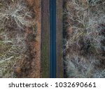 aerial view of straight road in ... | Shutterstock . vector #1032690661