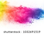 colorful powder explosion on... | Shutterstock . vector #1032691519