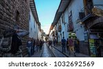 cusco  peru   august  2017  ... | Shutterstock . vector #1032692569